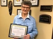 Sister Judy Bakula received a volunteer excellence award.