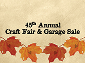 Craft Fair and Garage Sale eNewsletter photo. The event will be held on Saturday, October 10, 2020.  Pixabay License  Free for commercial use  No attribution required https://pixabay.com/photos/heart-sweetheart-leaf-autumn-maple-1776746/