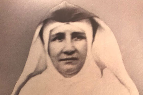Mother Caroline Friess; representative in North America for SSND traveled extensively across the United States to help establish over 200 missions.