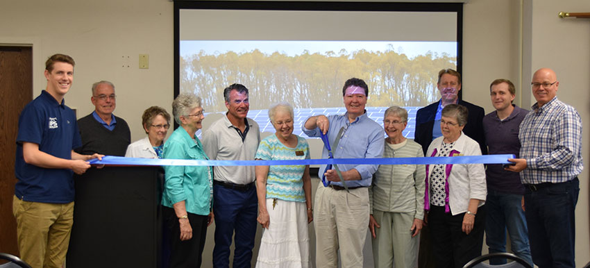 On June 20th, 2018, Our Lady of Good Counsel and IPS Solar held a ribbon cutting event for the most recent construction of solar panels on the sister's property. The ribbon cutting cermony was held in doors due to excessive rainfalls.