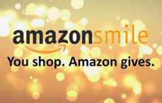 "AmazonSmile Logo ""You Shop, Amazon gives."""