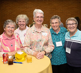 A photos of five sisters enjoying the 2019 St. Louis GermanFest.