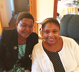 Two sisters at Mount Mary University; Sisters Comfort Anum and Zipporah Marigwa, from the Province of Africa, are studying at Mount Mary University in Milwaukee. Learn how they respect Nelson Mandela's vision.
