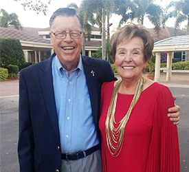 Bo and Judy Broemmel are posing for a photo in Flordia. These two are special donors to SSND.