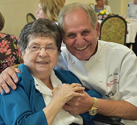 Sister and John Folse at the 2019 St. Mary of the Pines, Chatawa, Mississippi, Jubilee celebrations. John is a long time supporter and donor to SSND.