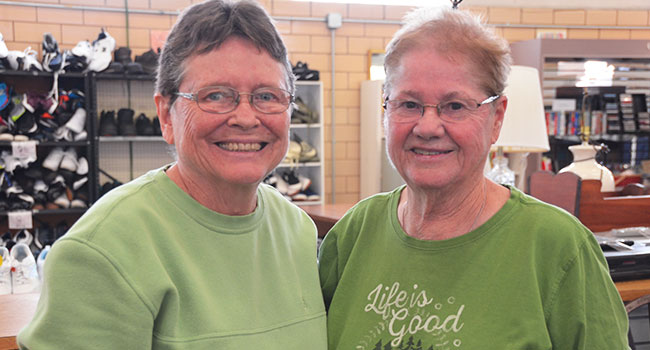 Sisters Mary Beckman and Kathy Stark at the Wellston Center