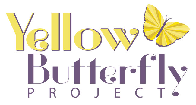 Logo for the Yellow Butterfly Project with a yellow butterfly