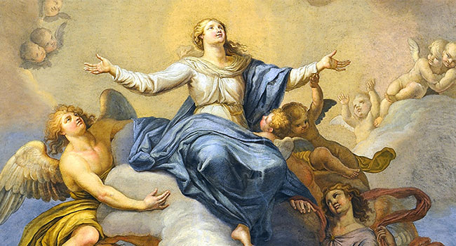 An image of the Assumption of Mary