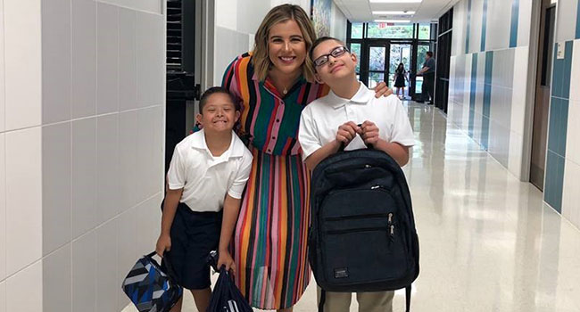 Students are welcomed back after summer to Notre Dame of Dallas School. Everyone is excited for the new year to start.