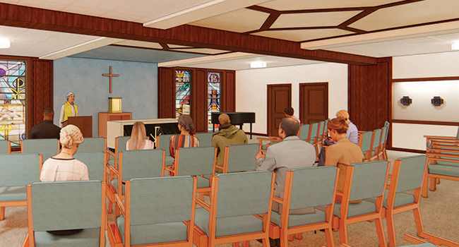 Rendering of the new chapel to be built at Trinity Woods in Milwaukee.
