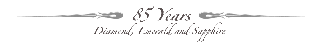 Celebrating 85 Years - Diamond, Emerald and Sapphire Jubilee