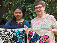 A photo from an SSND associate in Guatemala with rugs made.