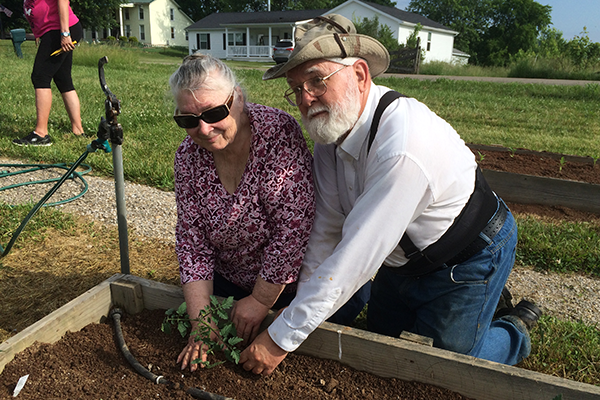 Associates Joan and Wayne Fontaine have been the driving force behind Green Hope Garden in Belpre, OH.  The produce from this garden is given to the local food bank.