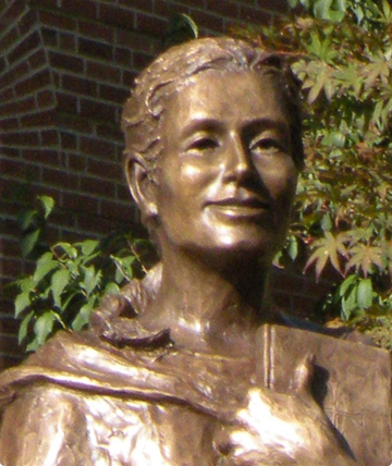 Statue of Blessed Theresa Gerhardinger as a young adult.
