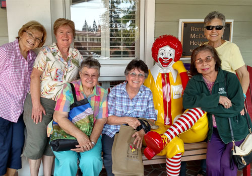 California associates and sisters volunteer Ronald McDonald House