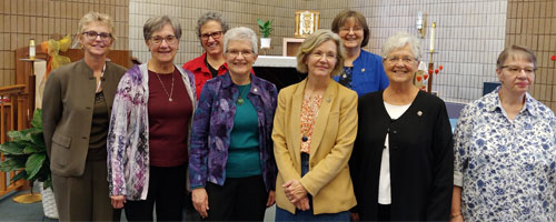 On October 5, 2019, 4 women made their initial covenant as SSND associates at Notre Dame of Elm Grove in Elm Grove Wisconsin.