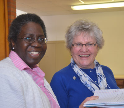 Sisters Vicki Chambers and Dianne Perry, January 2012 Provincial Assembly