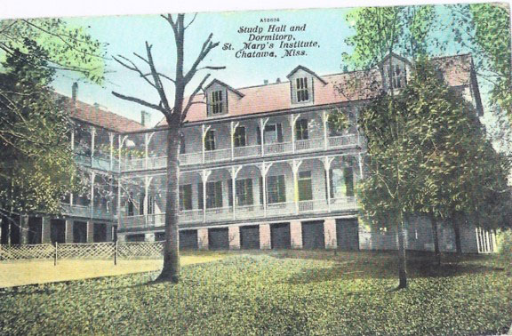 Photo of St. Mary's Institute buildings in 1954.