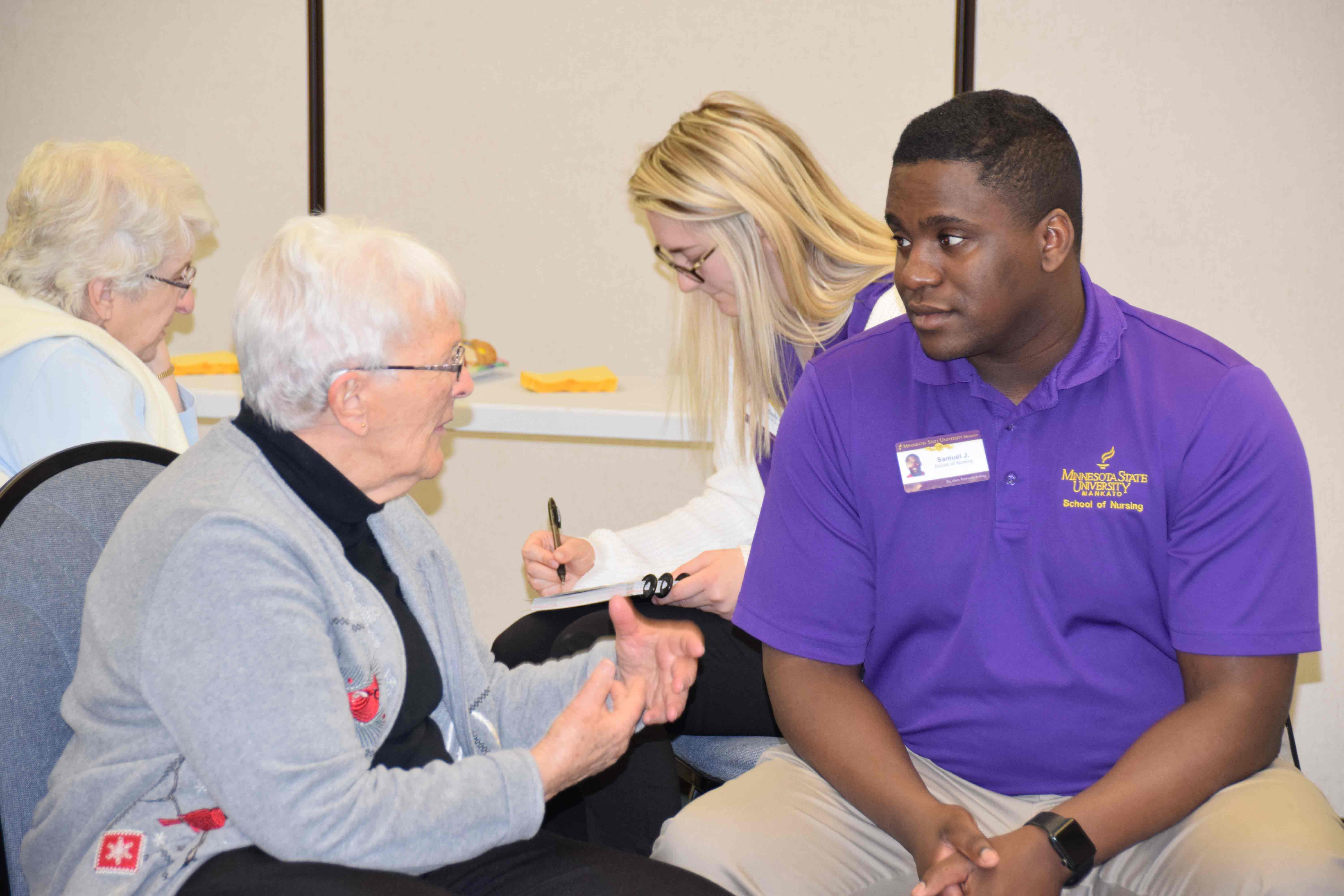 "Dr. Kristen Abbott-Anderson, Assistant Professor with the College of Allied Health & Nursing at Minnesota State University (MNSU), Mankato, continues to utilize ""Aging with Grace"" by Dr. David Snowdon, in her Families in Transition 2 course work. Dr. Snow"
