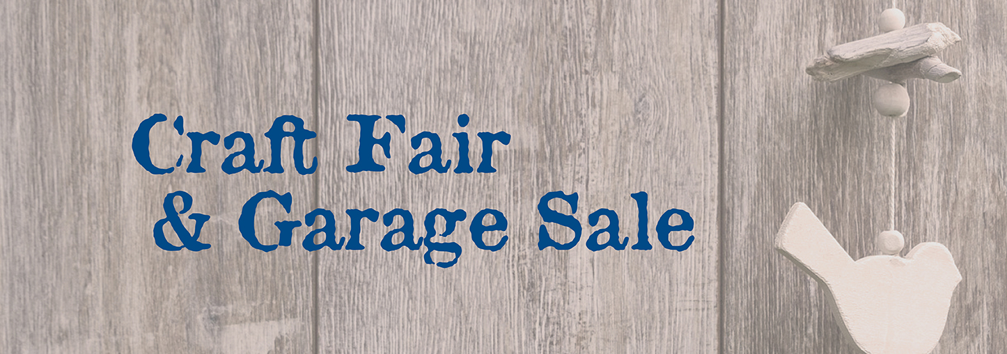 Craft Fair & Garage Sale - website header
