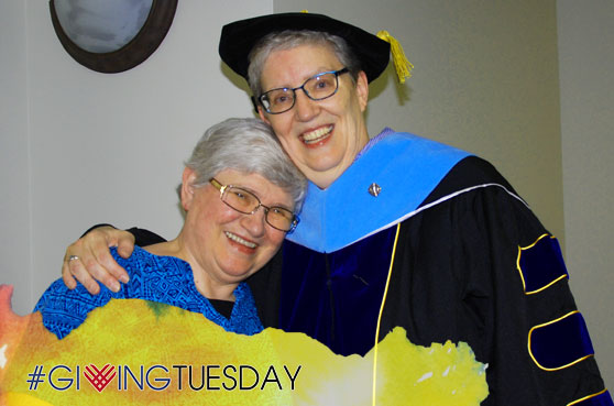 Sister Julie Brandt celebrated her graduation on June 8, 2021 with the sisters at Our Lady of Good Counsel in Mankato, Minnesota. This photo is for the #GivingTuesday campaign on November 30, 2021.