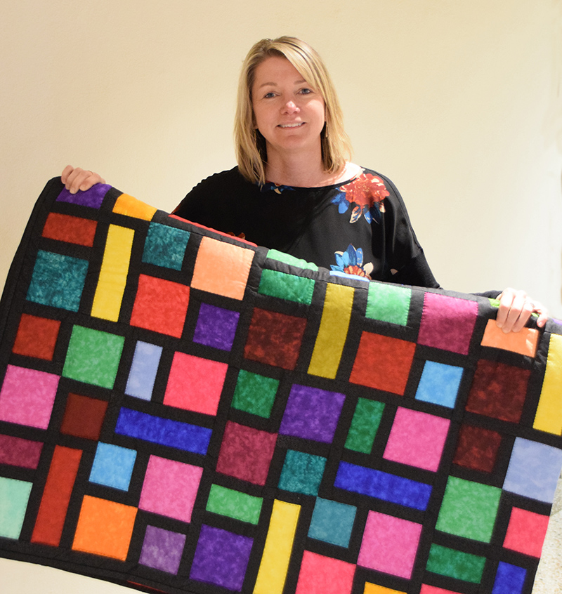 Our Lady of Good Counsel's 2019 NoFest Octoberfest quilt winner was Lynda Braun.