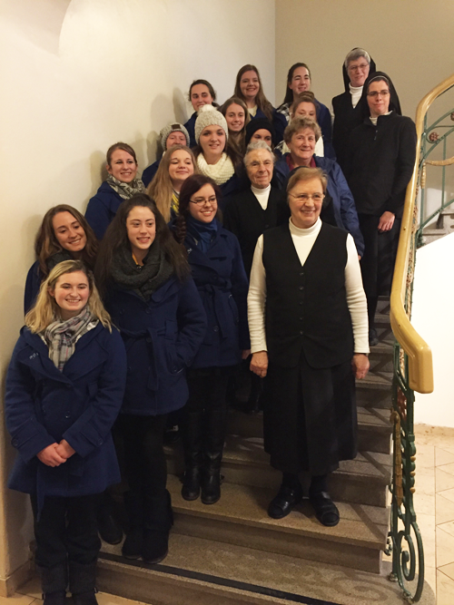 Students from Notre Dame High School in St. Louis traveled to Germany to meet students and sisters in the SSND's ancestral homeland.