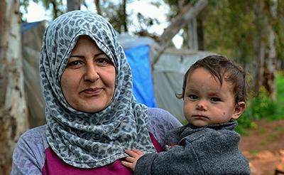 Portrait of refugees living homeless in Turkey.