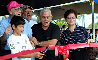 Ribbon cutting for the new athletic field in Guam