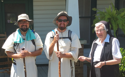 Fathers Thomas Schaefgen and Francis Orozco, and Sister MarieClare Powell