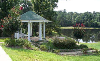 Gazebo by Kramer Lake at St. Mary of the Pines, Chatawa, Mississippi
