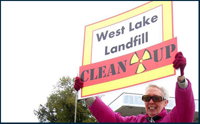 West Lake landfill protestor
