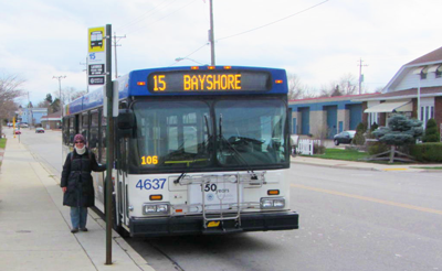Associate Mary Heyn of Milwaukee has a unique location for her ministry: on a bus.