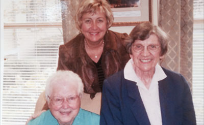 Sister Rose Helen Miller and Carol Hardy have maintained a lifelong friendship.