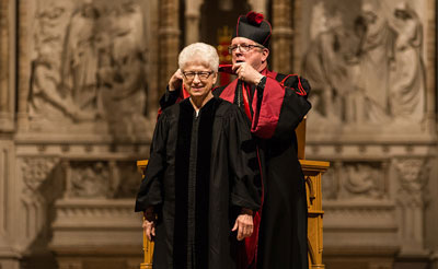 Sister Carleen Reck received an honorary doctorate from Aquinas Institute for Theology.