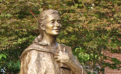 Blessed Theresa Statue on Sancta Maria in Ripa Campus