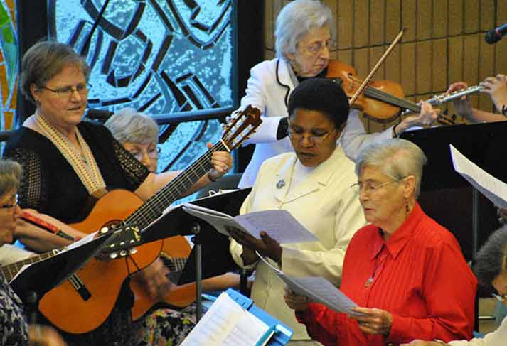 Sisters sang during the Jubilee celebration at Elm Grove.