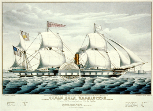 Steamship Washington Lithograph