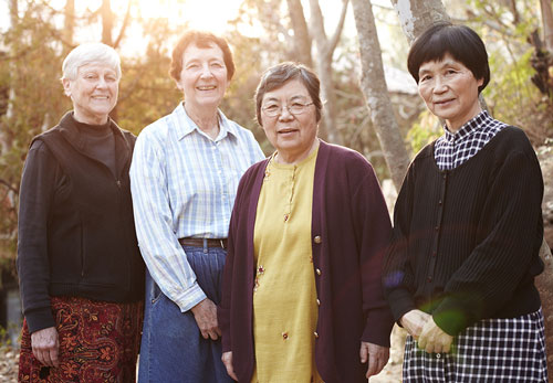 From left, Sisters Barbara Soeté, Andre Maureen Soeté, Evangela Imamura and Miriam Therese Kanaya