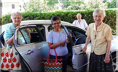 From left: Sisters Sylvia Hecht from Milwaukee; Maria Gomez from Dallas; MarieClare Powell and Dorothy Ann Balser from Chatawa