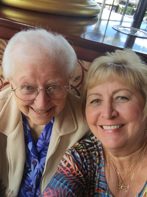 Sister Rose Helen Miller and Carol Hardy