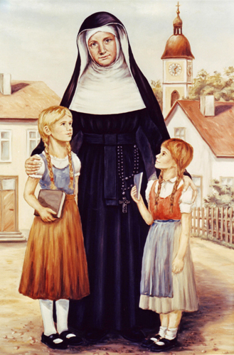 Blessed Theresa Gerhardinger with students
