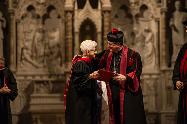 Sister Carleen Reck received an honorary doctorate from Aquinas Institute of Theology in St. Louis.