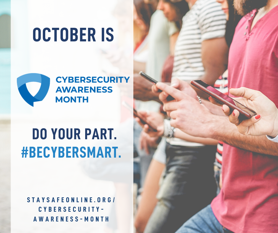 Do Your Part. #BeCyberSmart. Photo from staysafeonline.org