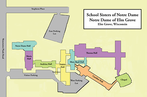Notre Dame of Elm Grove location map