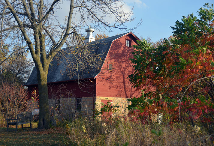 The barn at Our Lady of Good Counsel in Mankato, Minnesota.