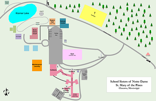 St. Mary of the Pines location map