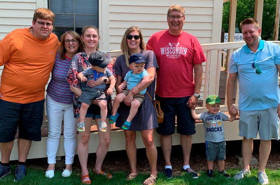 Meet our donor, Don Stoll, who grew up in the center of a family blessed with three SSND aunts. This photo is of him and his immediate family, including children and grandchildren.