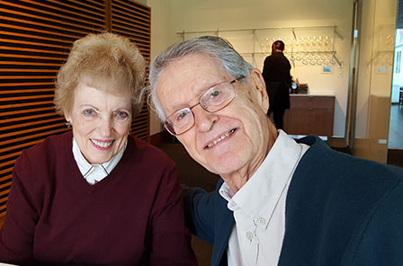 Dr. Leroy Ortmeyer and his wife in a photo. The image was used in the donor newsletter.