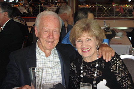 Sharon and Russell Stutes in a photo. The image was used in the donor newsletter.